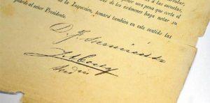 Firma D.F. Sarmiento.