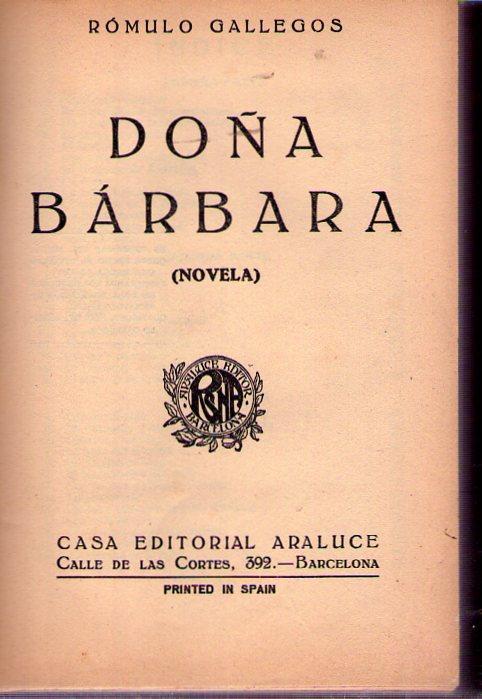 Doña Bárbara Libro