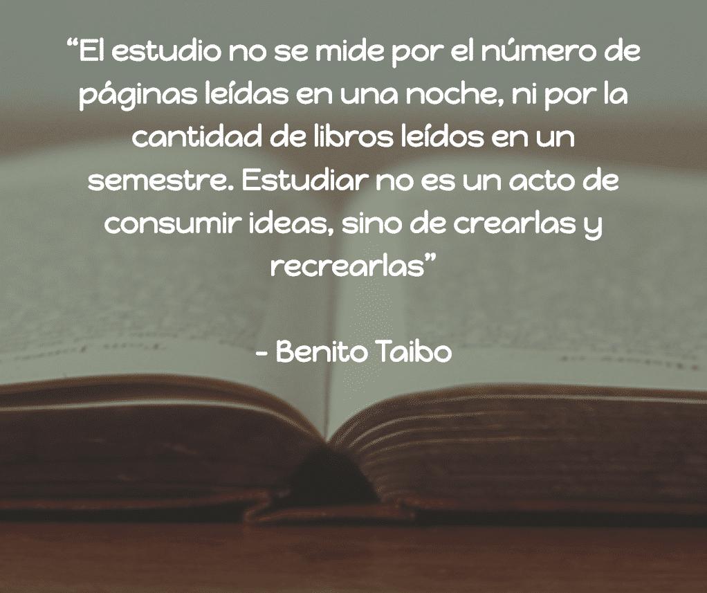 biografia de benito taibo
